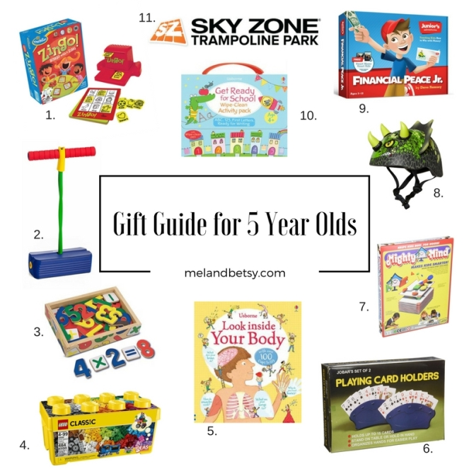 Friday Favorite Gift Guide for 5 Year Olds